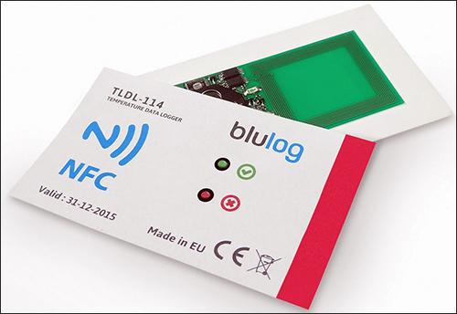 创业公司blulog推出可以用NFC读取的记录温度标签